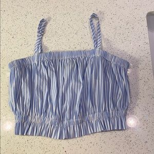 Forever 21 Woven Crop Top